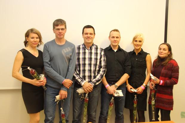 Tawast Cycling Clubin SM-mitalistit vuosimallia 2015 vasemmalta oikealle: Pauliina Koistinen, Rauno Kokkonen, Risto Koukkula, Olli Miettinen, Jenni Mattila, Katja Koivulahti.